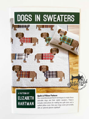 Dogs in Sweaters - by Elizabeth Hartman - Printed Pattern