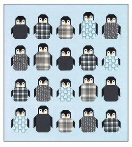Penguin Party - by Elizabeth Hartman - Printed Pattern