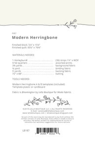 Modern Harringbone By Goertzen, Vanessa - Printed Pattern