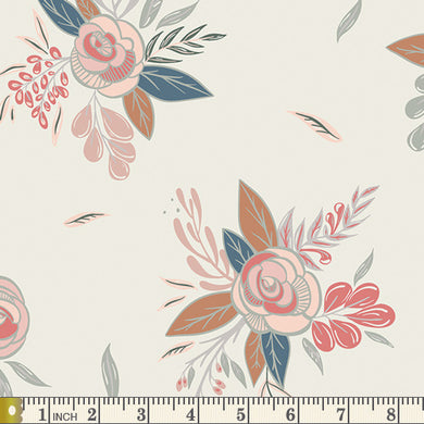 Art Gallery Fabrics - Montrose Blossoms Creme  - Fabric by the Yard