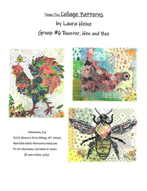 Teeny Tiny Group 6 Collage Pattern - by Heine, Laura - Printed Pattern