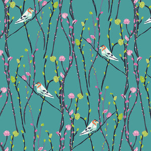 Art Gallery Fabrics - Petal and Plume - Illusionist Vine Jay - Fabric by the Yard