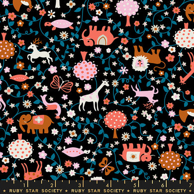 Liana Black RS3009 14 - Fabric by the Yard
