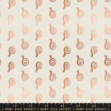 Liana Metallic Copper RS3011 11M - Fabric by the Yard