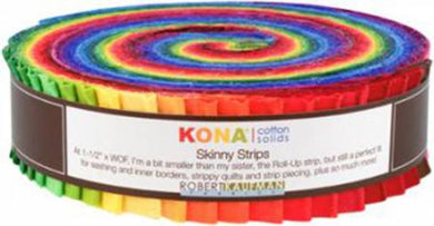 Skinny Strips Kona Solids Classic Colorway 41pcs 1 1/2in