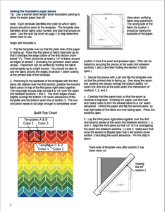 Sara's Chevron Quilt Pattern - Digital Download