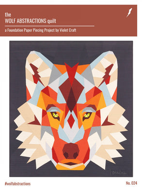 Wolf Abstractions Quilt - Printed Pattern