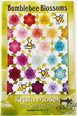 Bumblebee Blossoms by Krista Moser, the Quilted Life - Printed Pattern