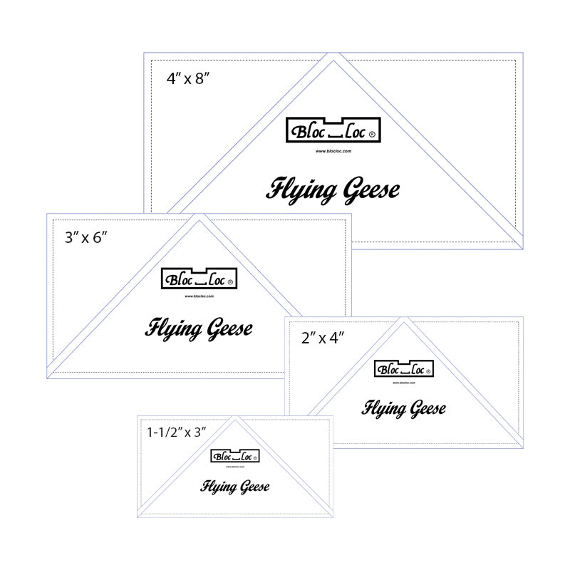 Flying Geese Ruler Set 1 - Bloc Loc