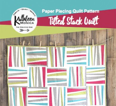 Tilted Stack Quilt Pattern - Foundation Piecing Pattern - Digital Download