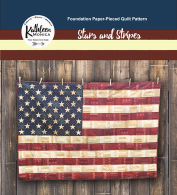 Stars and Stripes - Foundation Piecing Quilt Pattern - Digital Download