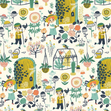 Birch Organics - Hidden Garden - Main - Fabric by the Yard