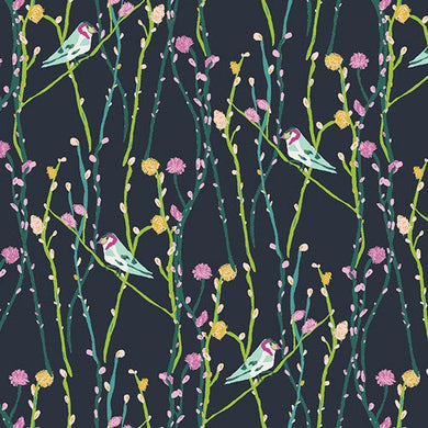 Art Gallery Fabrics - Petal and Plume - Illusionist Vine Tui - Fabric by the Yard