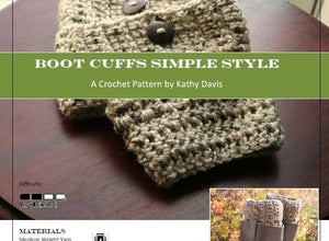 Crochet Pattern-Boot Cuff- Simple Style - Digital Download
