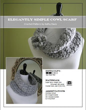 Load image into Gallery viewer, Crochet Pattern-Elegantly Simple Cowl Scarf - Digital Download