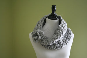 Crochet Pattern-Elegantly Simple Cowl Scarf - Digital Download