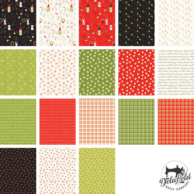 Merry Little Christmas Fat Quarter Bundle 18 pcs
