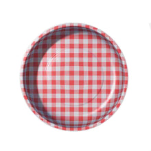 Load image into Gallery viewer, Red Gingham Magnetic Pin Bowl