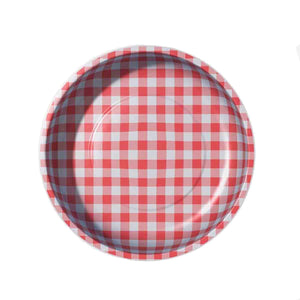Red Gingham Magnetic Pin Bowl