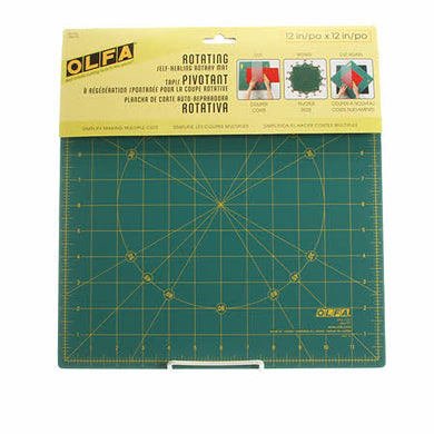 Spinning Square Cutting Mat 12 in - by OLFA