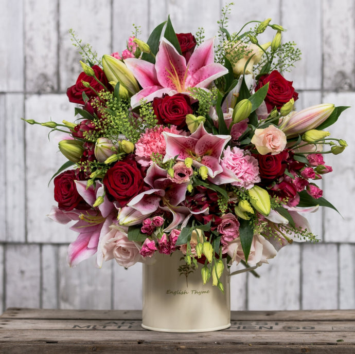 Luxury Red & Pink Hand Tied Bouquet