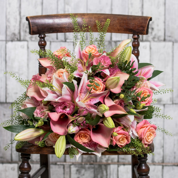 Pink & Peach Calla Lilly Hand Tied