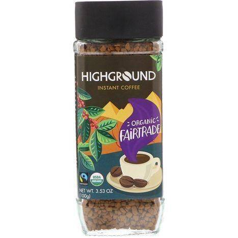 Highground Coffee, Organic, Instant - 3.53 Ounces