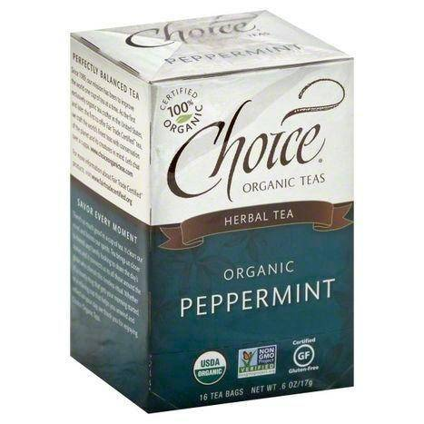 Choice Organic Teas Herbal Tea, Organic, Peppermint, Bags - 16 Count