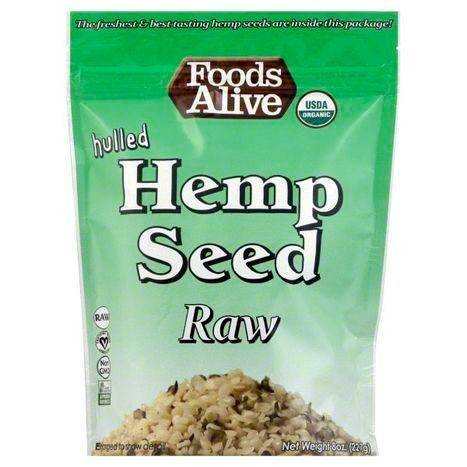 Foods Alive Hemp Seed, Raw, Hulled - 8 Ounces