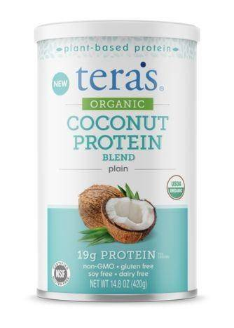 tera's whey Organic Coconut Protein Blend, Plain - 14.8 Ounces