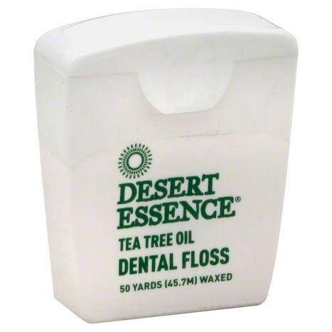 Desert Essence Dental Floss, Waxed, Tea Tree Oil - 1 Each