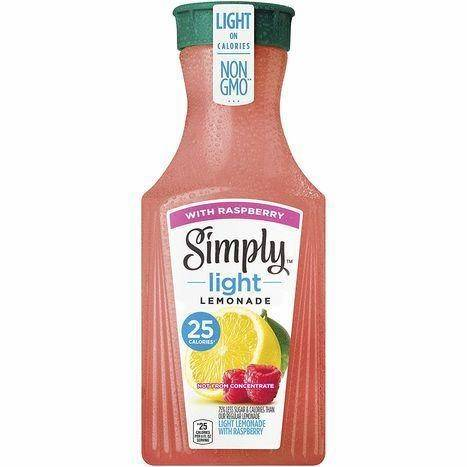 Simply Light Lemonade With Raspberry Fruit Juice Drink - 52 Fluid Ounces