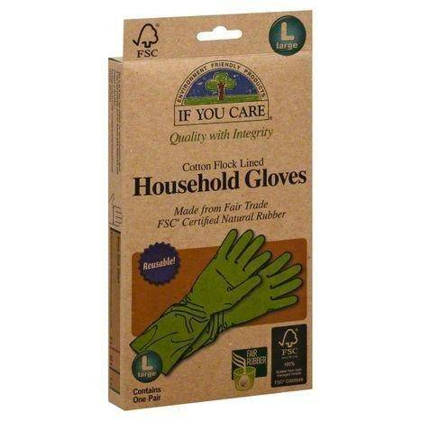 If You Care Gloves, Household, Cotton Flock Lined, Large - 1 Pair