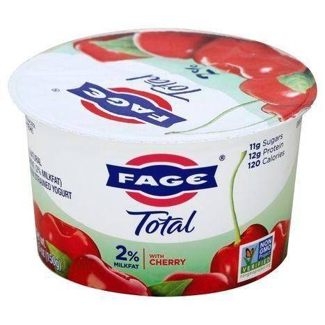 Fage Total Yogurt, Greek, Lowfat, Strained, with Cherry - 5.3 Ounces