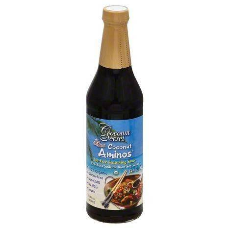 Coconut Secret Coconut Aminos Seasoning Sauce, Soy-Free - 16.9 Ounces
