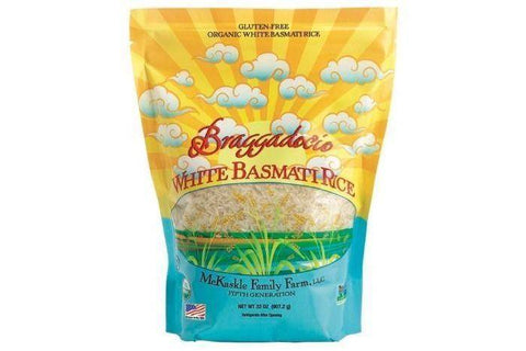 Braggadocio Organic White Basmati Rice - 32 Ounces