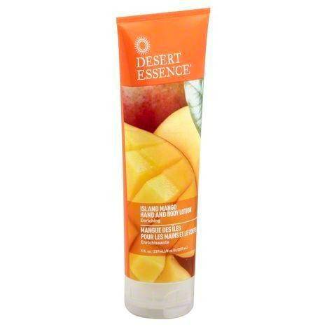 Desert Essence Hand and Body Lotion, Island Mango - 8 Ounces