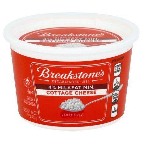 Breakstones Cottage Cheese, Large Curd, 4% Milkfat Min. - 16 Ounces