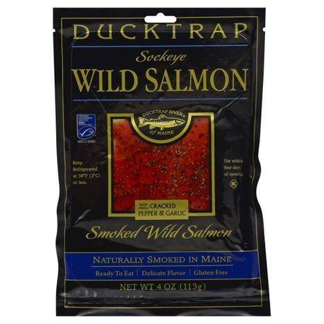 Ducktrap Wild Salmon, Smoked - 4 Ounces