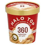 Halo Top Frozen Dessert, Dairy Free, Peanut Butter & Jelly - 1 Pint