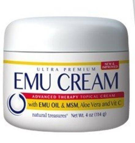 Natural Treasures Emu Oil Topical Cream - 4 Ounces