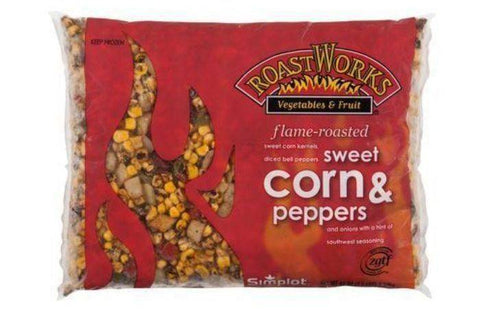 Roast Works Flame Roasted Sweet Corn Peppers - 2.5 Pounds