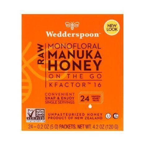 Wedderspoon Raw Monofloral Manuka Honey - 0.2 Ounces