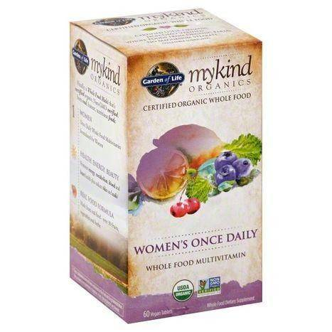 Garden of Life MyKind Organics Multivitamin, Whole Food, Women's Once Daily, Vegan Tablets - 60 Each