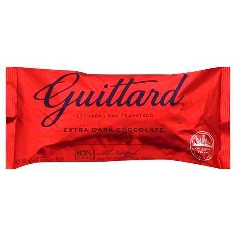 Guittard Baking Chips, Extra Dark Chocolate, 63% Cacao - 11.5 Ounces