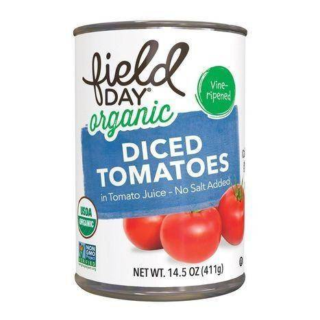 Field Day Organic No Salt Added Diced Tomatoes - 14.5 Ounces