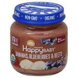 Happy Baby Organics Baby Food, Organic, Bananas, Blueberries & Beets, Stage 2 (6+ Months) - 4 Ounces