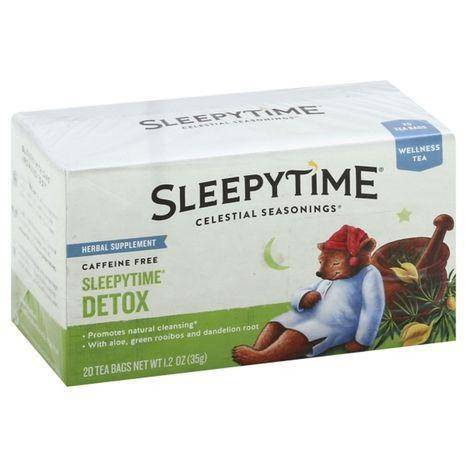Celestial Seasonings Sleepytime Wellness Tea, Sleepytime Detox, Caffeine Free, Bags - 20 Each