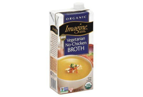 Imagine Natural Creations Broth, Organic, Vegetarian, No-Chicken - 32 Ounces
