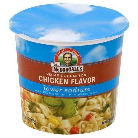 Dr McDougalls Noodle Soup, Vegan, Chicken Flavor - 1.4 Ounces